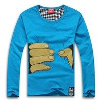 Мужская футболка LOVERS women men's fashion T-shirt full sleeve shirt catch you T-shirts cotton high quality S M L XL XXL XXXL