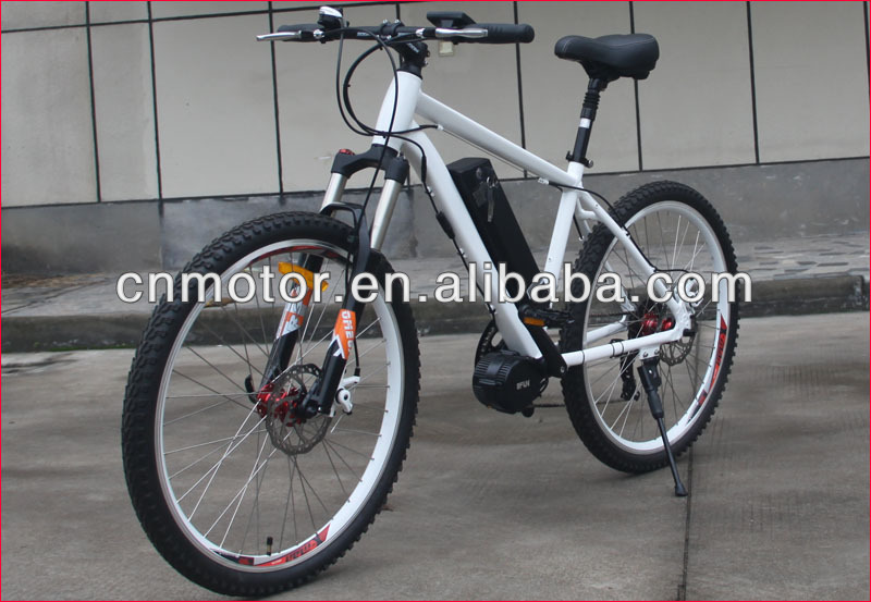 New electric bike with bottom bracket motor for Carrefour