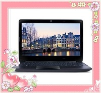 wholesale,Free shipping,11.6 inch laptop (AMD APU processor C-60 1 G 250 G camera 6 core lithium ion battery) black