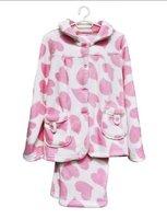 Plush women's coral fleece bathrobe,pajamas suit set,velvet couple clothes, sleepwear, nightgown