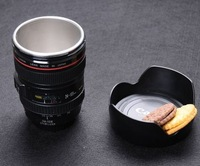 Wholesale 1pcs Mug For Canon Lens 4th Stainless Steel Inlayer+Fancy box+Fancy Nylon Oxford+Coffee Mug/Travel Mug/Cup/LENS CUP