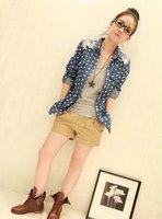 Корея блузки женщин рубашки блузки рубашки новых мода топы джинсы блузки женская одежда