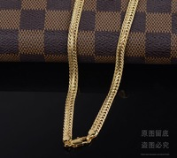 60cm long 18k GP gold plated Chains For Men Fashion Men's Jewery Items new 2014 High Qualtiy