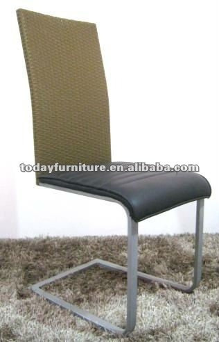 modern metal and leather dining chair DC9899