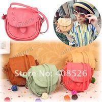Korea Girls Handmade Musette Drum leather bag Pattern Small Shoulder bag messenger Handbag 5057