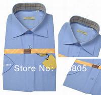 мужчин короткий рукав хлопок рубашка рубашка мужская марка