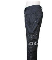 PUNK NEW! ROCK FRAG BUCKLE BONDAGE PANTS K100