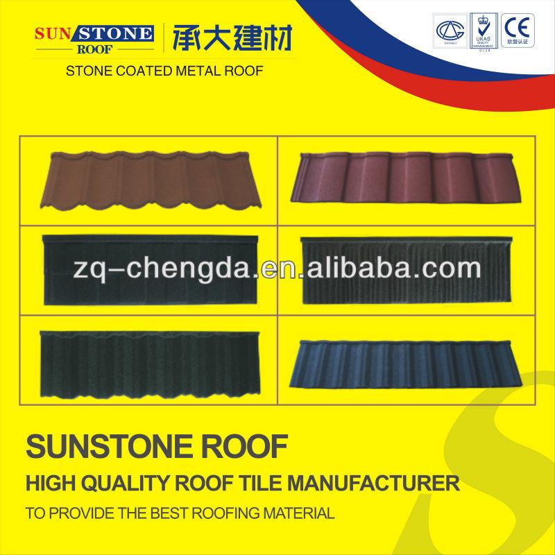 fireproof asphalt stainless steel stone coated metal roof sheet