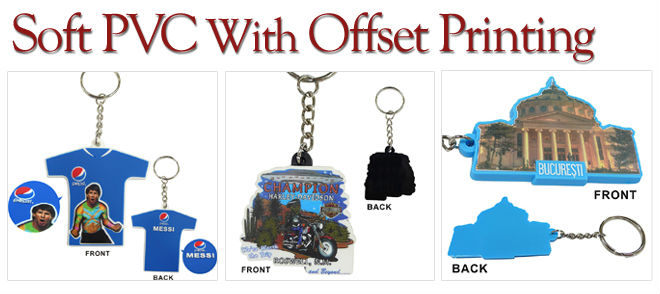 Promotional key chains in Soft PVC