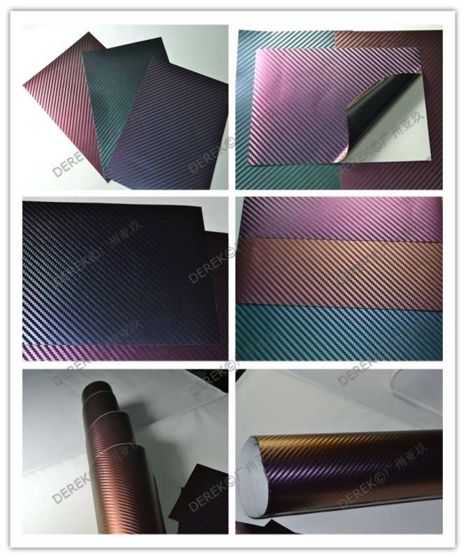 New style! Car vinyl wrap-3D carbon fiber Chameleon film
