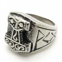 Мужская нержавеющей стали 316l античный викингов Тор молот mjolnirring старинные ювелирные изделия в подарок