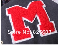 Женские толстовки и Кофты Size L Letter M preppy style casual fleece with a hood sweatshirt baseball Varsity Jacket sportwear cheapest