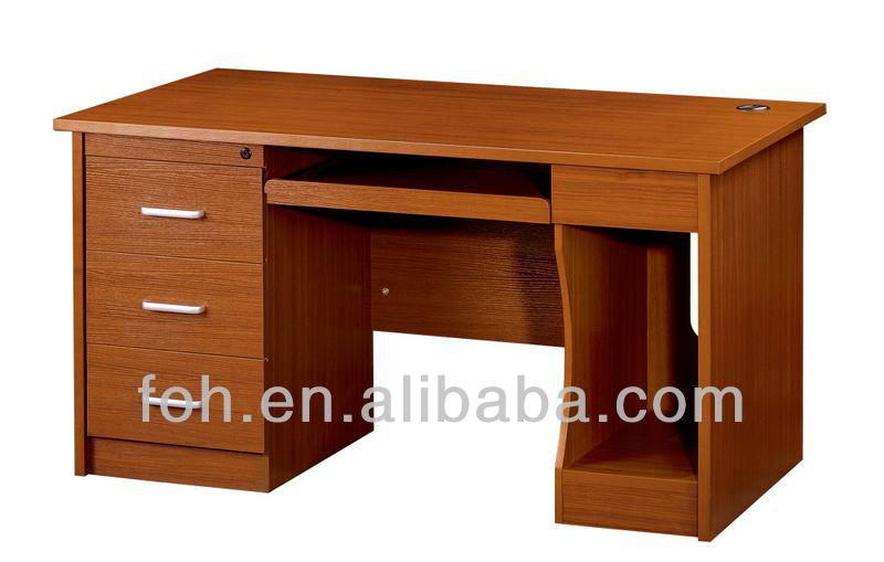 Pequeño escritorio de oficina de madera de cerezo/computadora de ...