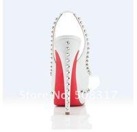 Туфли на высоком каблуке New Genuine Leather White Slingbacks Pumps Women's High Heels Shoes @092