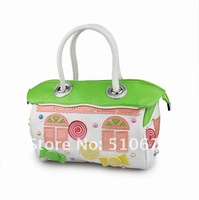 STOCK 2012 new brand Bagbag park sweet house PU personality women's gift handbag evening/party bags creative bags