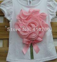 стерео цветы Детская одежда мальчика девушка жилет вершины рубашки тройники, можно выбрать 7 цветов