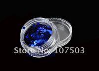 Free Shipping 18 Jar/ Colors Nail Art Big Hexagon Glitter Decoration sticker 5847