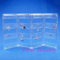 Дисплей для ювелирных изделий Clear View Folding Earring Display Stand Screen Unit Holder 240 Holes TVB-LJES-07