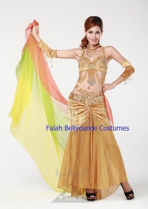 New!High advanced professional belly dancing full costume set Bra Skirt Necklace Armbands Super star stage wear Performing set for bellydance Falah (9).jpg