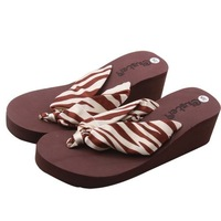 Женские сандалии Ribbon stripes cool slippers, high-heeled slippers / slope with slippers+ HOT Selling! Retail