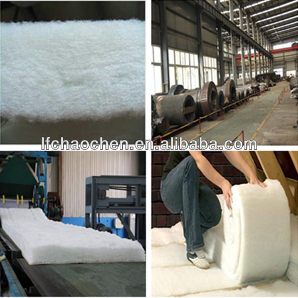 Fire resistant semi rigid glass wool insulation felt with for Fireproof vapor barrier