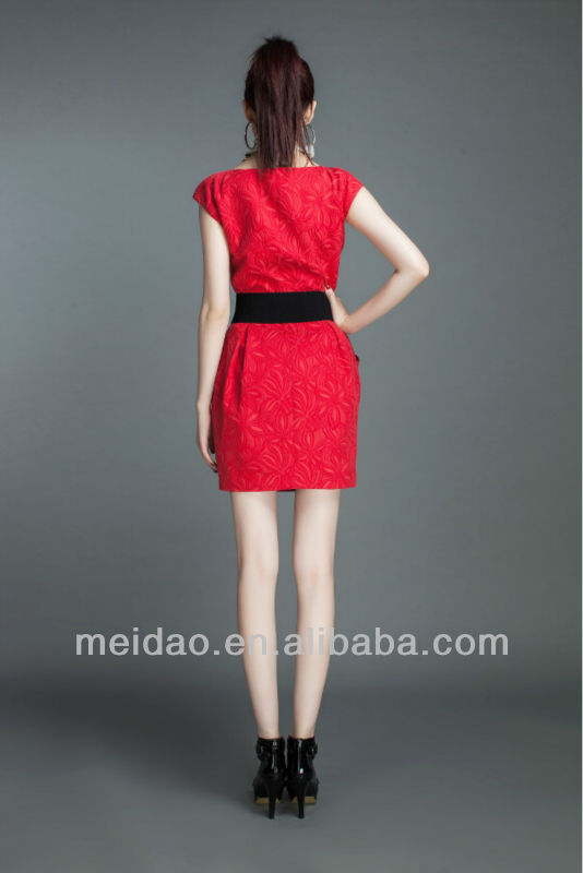 Hot Design Cheap Lady Red Women New Fashion Dress 2013