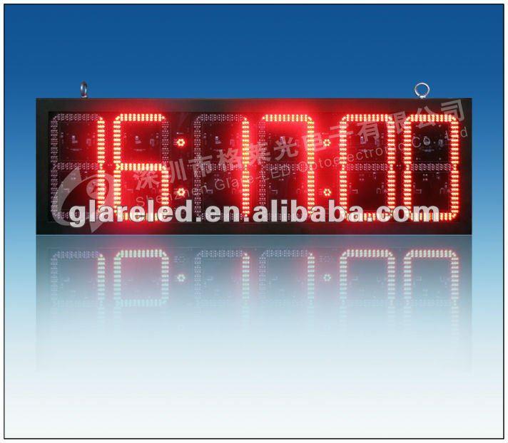 10INCH Outdoor IP65 outdoor led clock temperature display