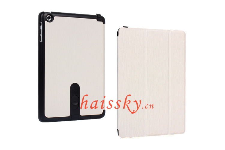 for ipad mini flip leather case with enhance sounds and sleep function