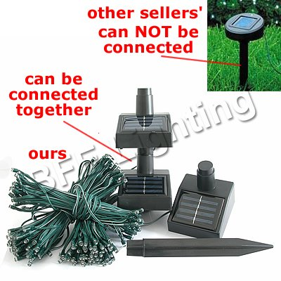 36ft 11m 60 LED White Solar Powered Fairy Lights Garden Christmas Garden Decoration