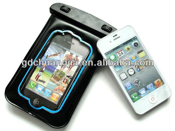 hot sale Super plastic pvc custom waterproof bags for iphone4/4s