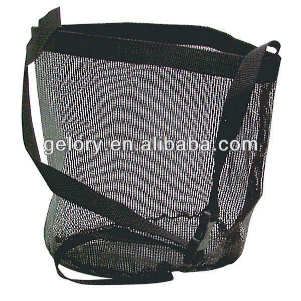 ingrosso nero rete di nylon sacchetto alimentare bandalaterale con maniglia
