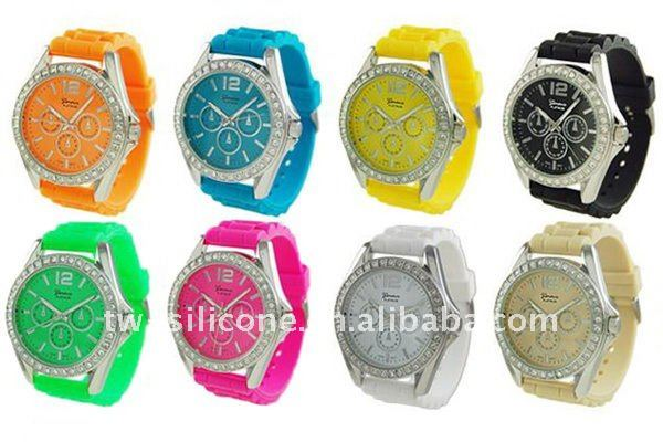 Dazzle Silicone Watches for Lady Girls Women