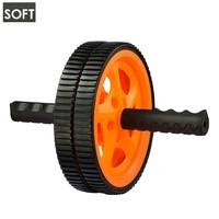 Ролик для пресса 1pc Stainless steel Orange&Grey Double-wheeled Ab wheel thin waist rollers power rollers mute sports fitness equipment