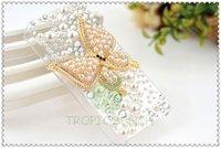 Чехол для для мобильных телефонов MIXED STYLE USD30! Brand Rhinestone Bling Golden Pearl Butterfly Cell Phone Case For iPhone 4/4S, SHIP