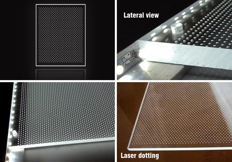 Ultrathin slim led light box indoor/Aluminum light frame