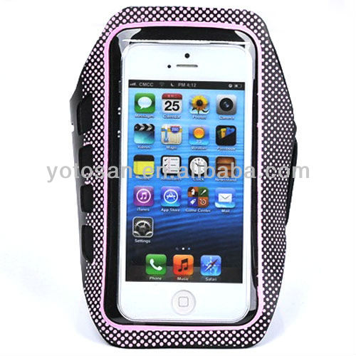 Mobile Phone Accessory Anti-Slip Sports Armband Case for iPhone 5