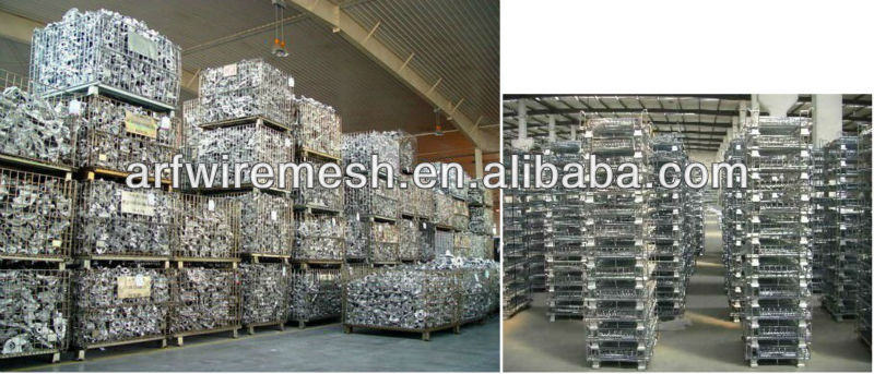 Foldable transport wire mesh container(high quality with big supply)