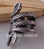 Free Shipping Retro Snake Ring Winding Snake Ring, Fashion Ring(Min.Order Is $10+Gift,Mix Order)
