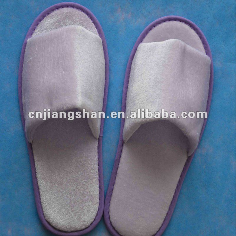 2013 luxury high quality cotton disposable hotel slippers