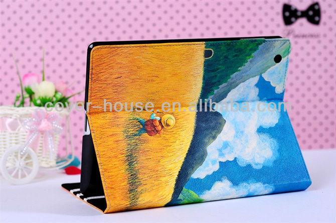 Hight Quality Cute Jimmy cartoon leather case for ipad mini