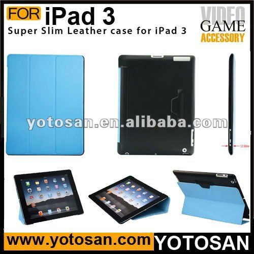 Smart PU Leather Cover Case for iPad 2 with stand holder