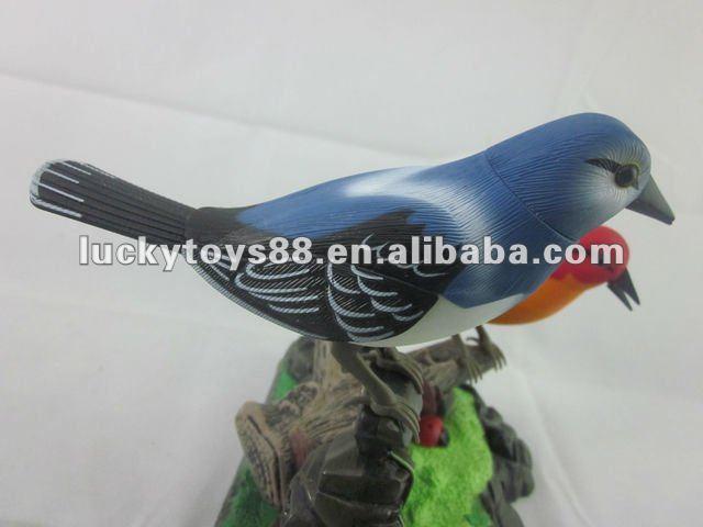 Voice activated toy,B/O sound control birds,singing bird