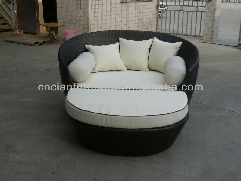 A- vendita calda salone di mobili per esterni rattan lettino letto ...