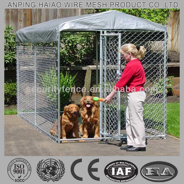 ( 10 years manufacturer ) Galvanized & chain link dog kennel