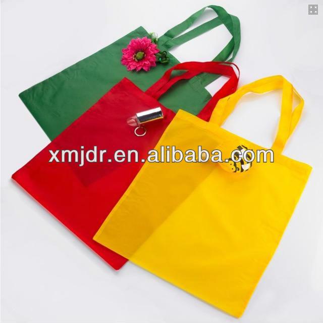 Red Rose Polyester Folding Shopping Bag Wholesale