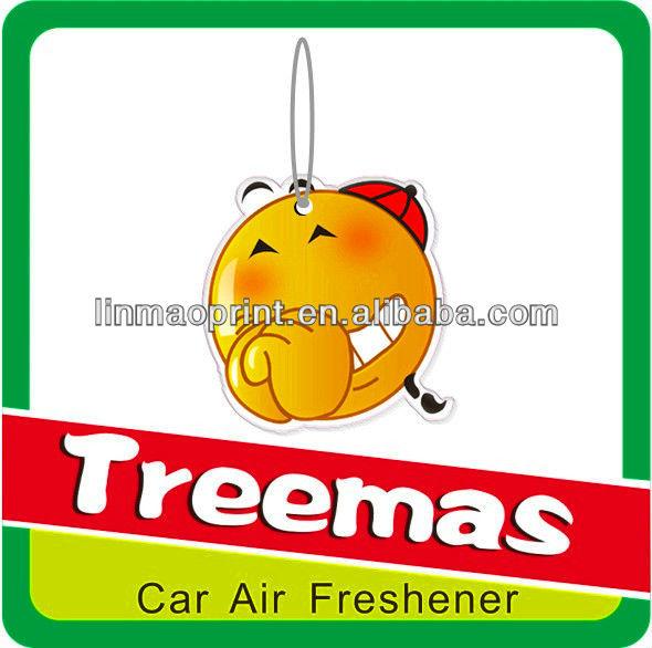 Paper car air freshener/air car freshener/car perfume card Y124