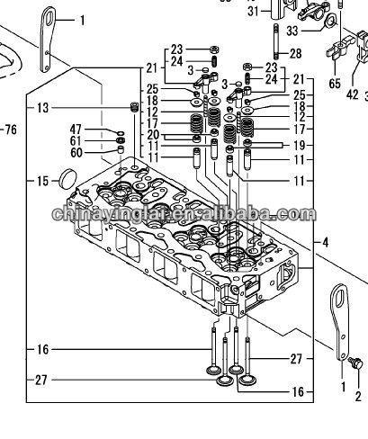 yanmar 4TNV98T valve exh