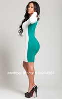 Одежда и Аксессуары 2013 new fashion dress! sexy dress party dress! Ladies Long Sleeve Hollow out Slim Bodycon Clubwear Dress