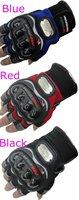 Мужская одежда для велоспорта 10pairs/Lot Man PRO bike riding Knight Racing half finger gloves Black Blue Red bicycle sport gloves