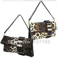 Вечерняя сумка 2012 new style women Leopard grain clutch bags evening bag day clutches genuine leather